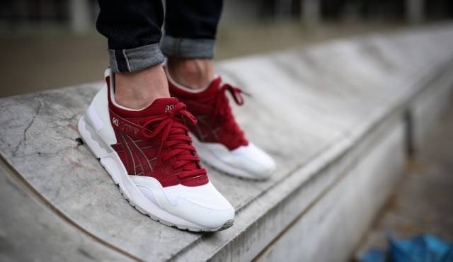 asics gel lyte v white burgundy