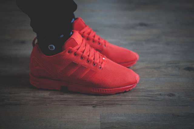 Adidas Zx Flux All Red