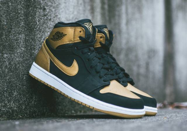 online store 9616b 75af1 Nike Air Jordan Retro 1 I High MELO Black Gold OG Carmelo
