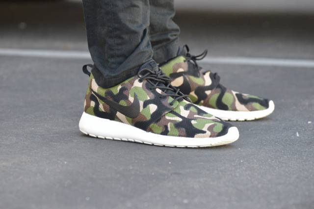 classic fit 3a1a6 cd88d Camo nike roshe one - custom hand painted sneakers