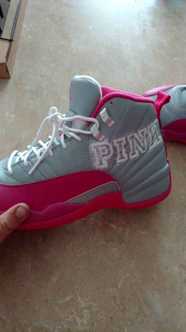 """Pink 12s Customized """"pink&..."""