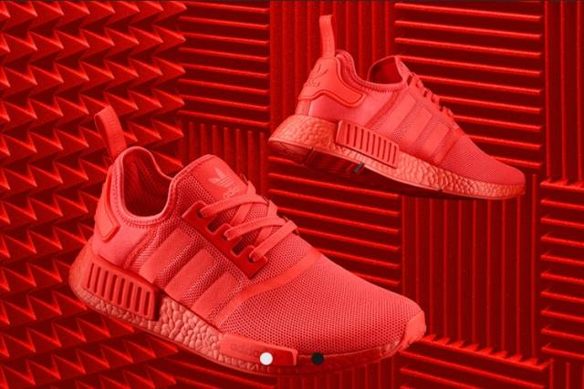 357083099 Adidas NMD R1 Solar Red Size 9