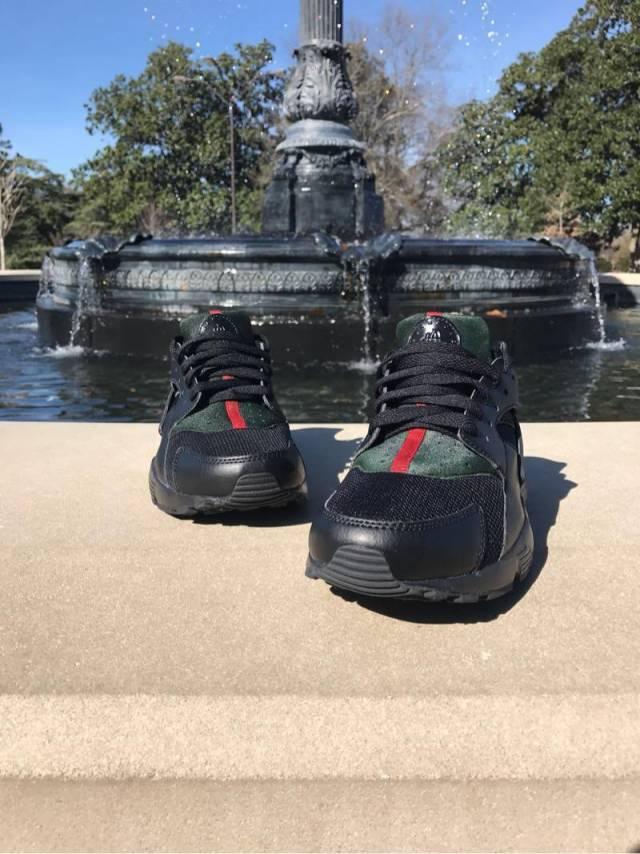 Black Custom Gucci Huarache