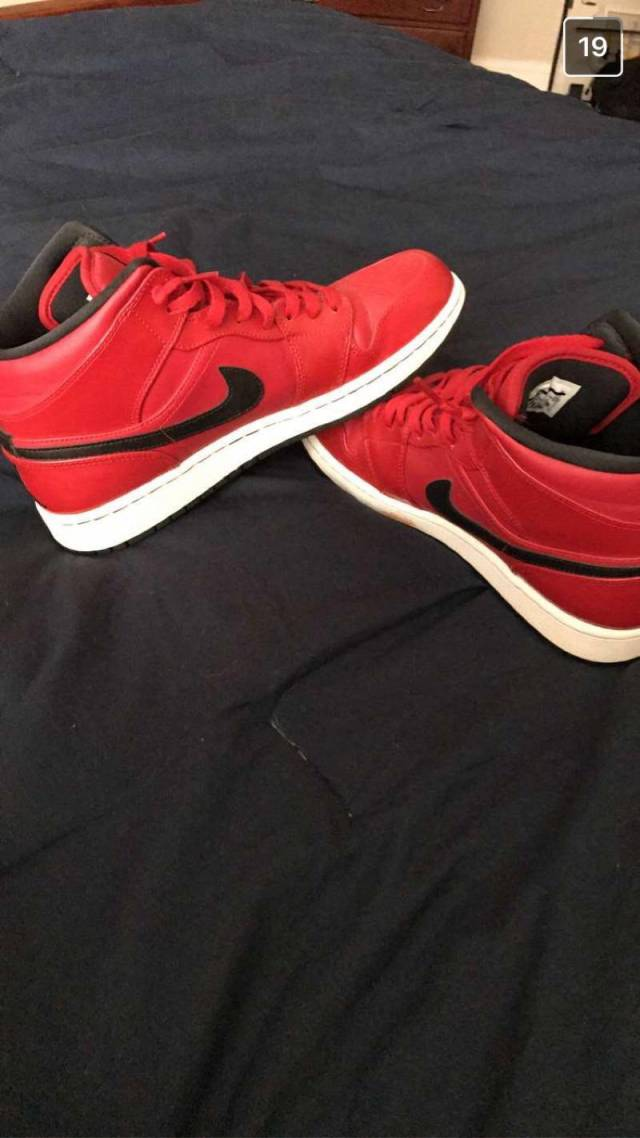 best sneakers 5399e 1fb74 Red And Black 1's Size 10