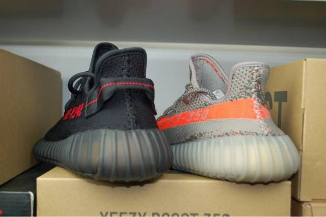 Adidas Yeezy Boost 350 v2 Couple casual shoes Black red [BY1605