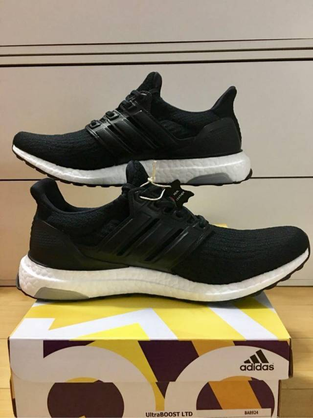 separation shoes 0d698 02e58 Adidas UltraBoost3.0 LTD PK •Leather Cage• Core Black 8-11US