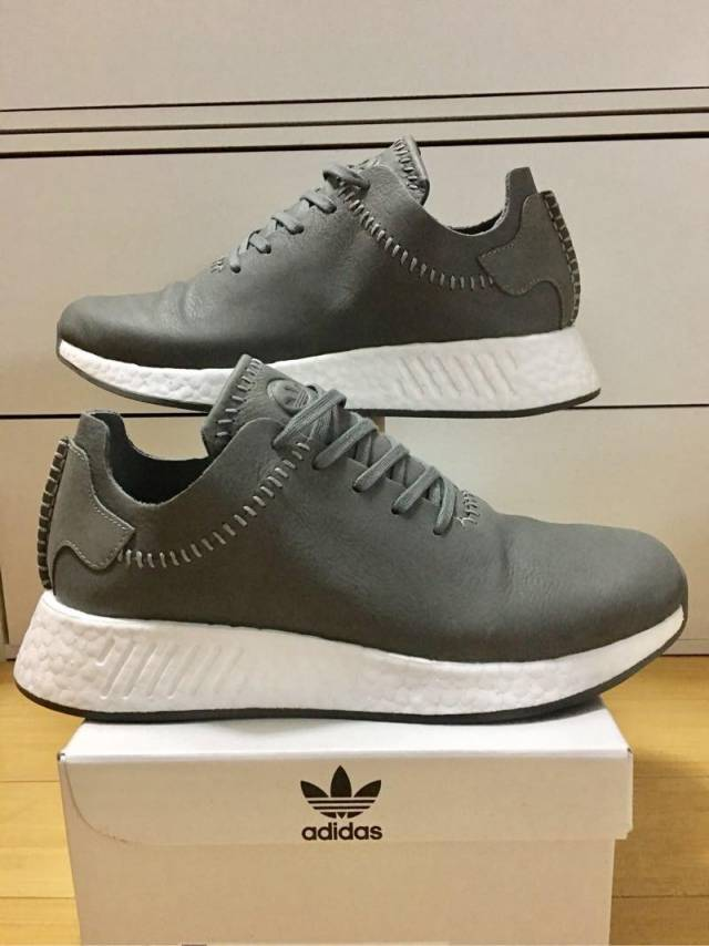 5b6a06ea9 Adidas NMD R 2 Wings+Horns Leather Grey Ash BB3117 Men 9 US