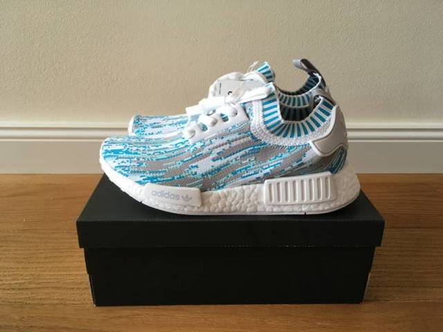 beaf1ebf99475 Adidas SNS Sneakersnstuff NMD PK Glitch DataMosh Blue Aqua