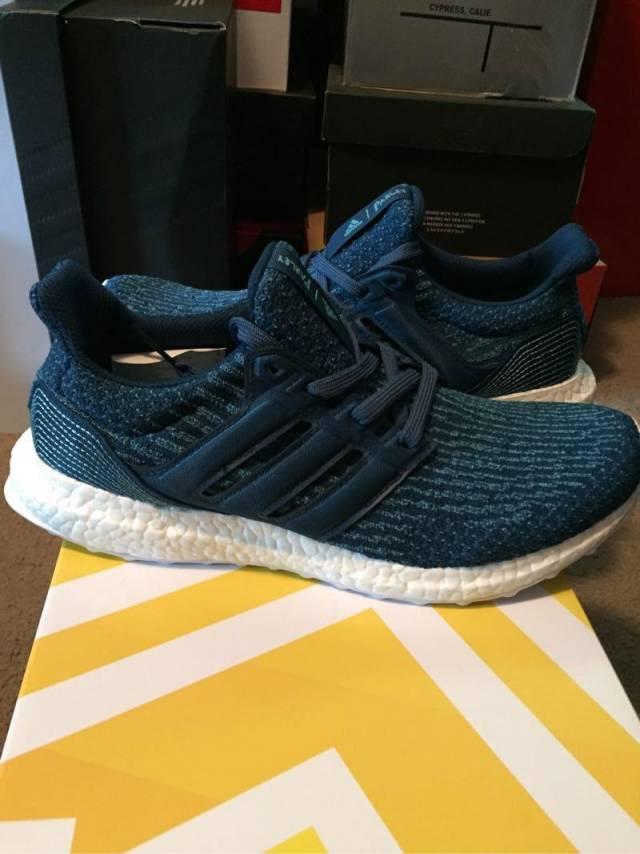 Adidas ultra boost parley men's size 8.5 NEW BB4762 ultraBOOST primeknit pk