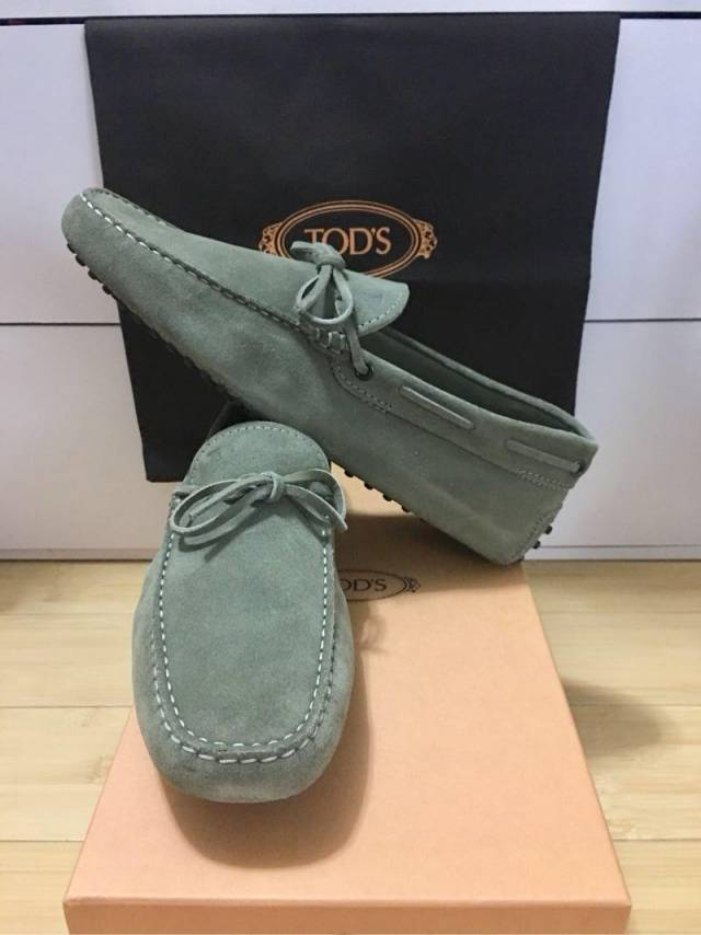 Luxury Driving Shoes Green Olive Men