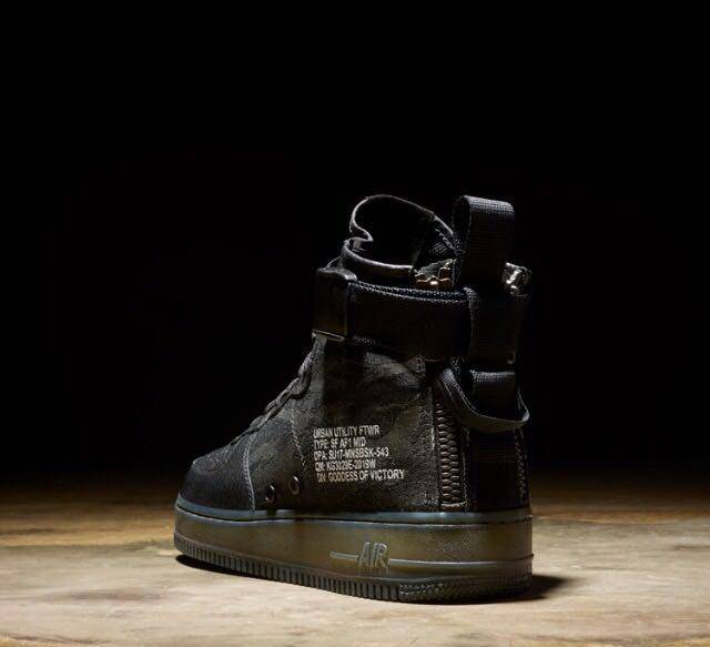 Nike SF AF1 Mid QS Black Tiger Camo Special Field Air Force 1 Men Urban  Utility