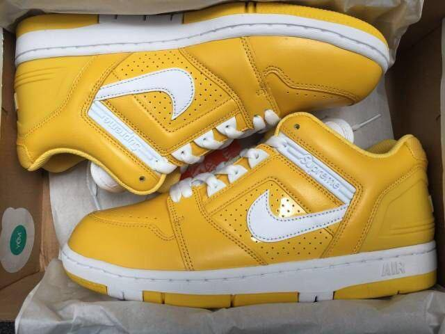 ee96d79721a1 Supreme x Nike SB Air Force 2 Varsity Maize