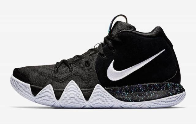 New Nike Kyrie 4 Black White Basketball Shoes sz 10.5