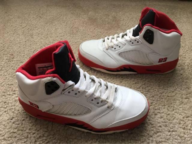 new style 046a0 bf533 ... release date mens nike air jordan 5 fire red size 7.5 replica b grade  9bb9e 98c2d