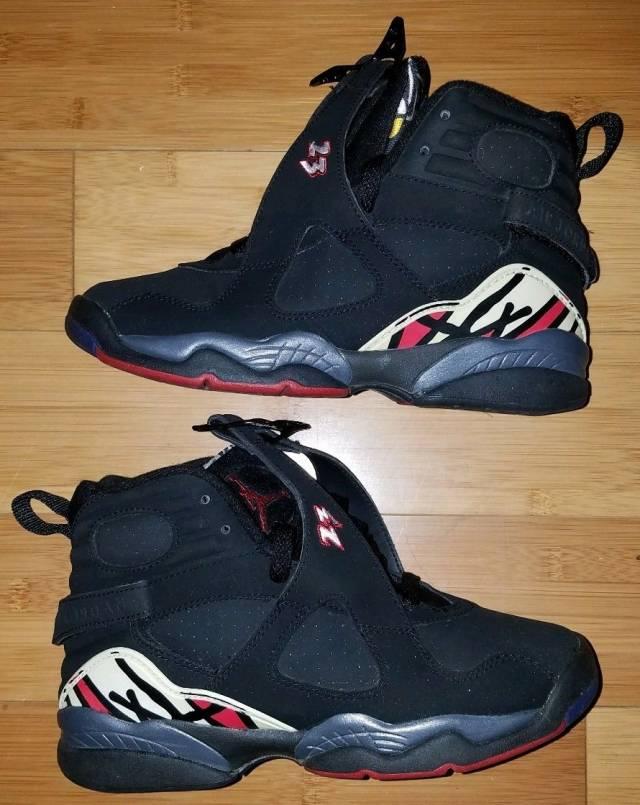 Nike Air Jordan 8 VIII Retro playoffs 5Y gs bg Rare black  4a3dc376b1