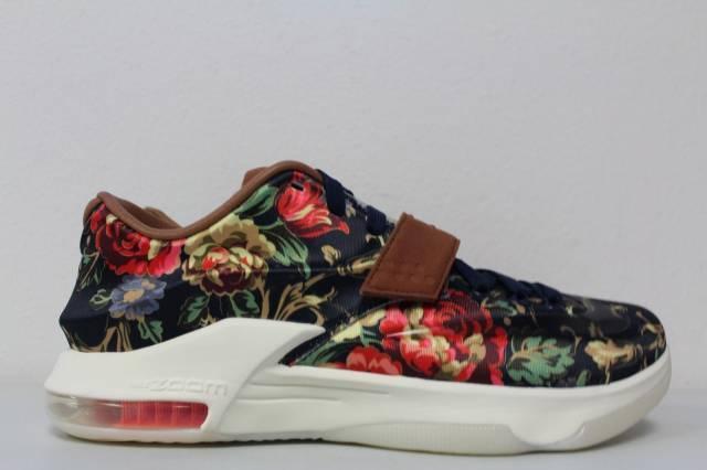 09acb71fc98a Nike KD 7 VII EXT Floral QS Midnight Navy Black Hazelnut 726438 400 Size 11