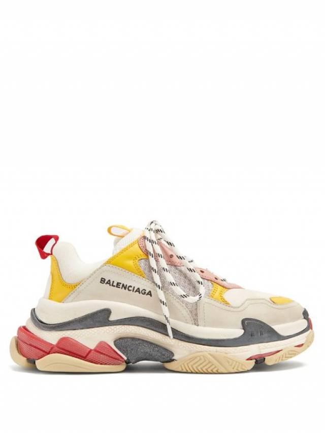 52926d555754 Balenciaga TRIPLE S Women s Sneaker in Yellow Pink sz 37 ( 3 ...