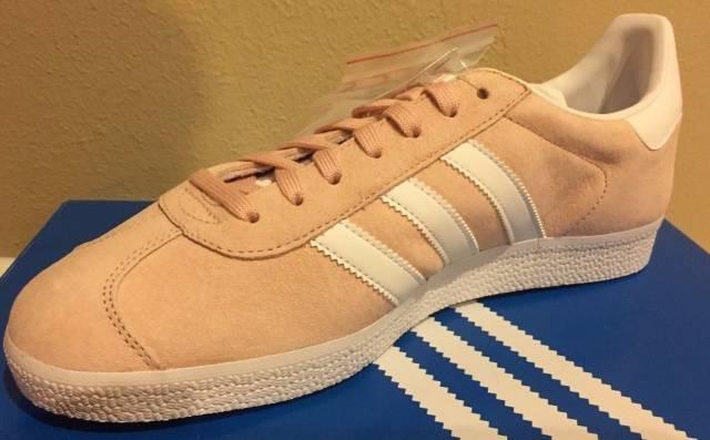nuove adidas originali gazzella scarpe rosa camoscio bianco bb5472 vapore