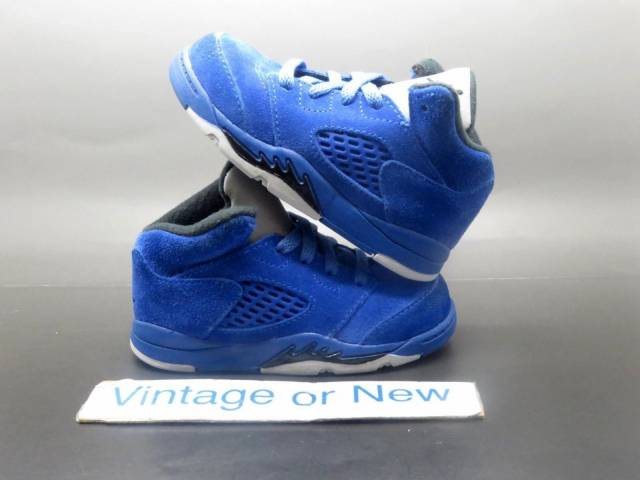 a1fb3c3e3c04 Nike Air Jordan V 5 Blue Suede Retro BT 2017 sz 7C