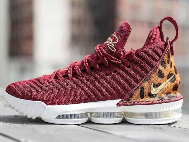22ecb23cece6b Nike LeBron XVI 16 King James Red Gold Leopard Men Size 8.5