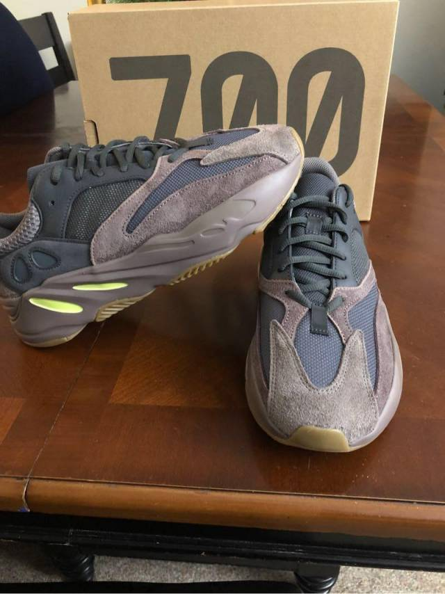 "New Runner"" 8 5 ""wave Boost Brand Size Adidas Yeezy Mauve 700 IYDH9WE2"