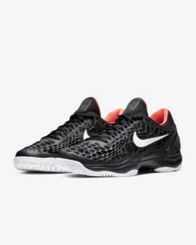 3cc9033968c4 NikeCourt Zoom Cage 3 Black Bright Crimson 8-14 Mens