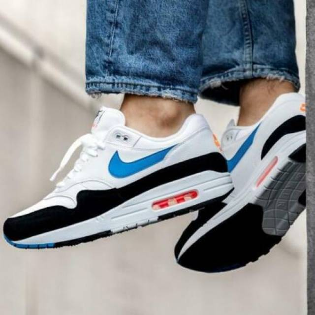Nike Air Max 1 White Size 8 9 10 11 12 Mens Shoes Force...