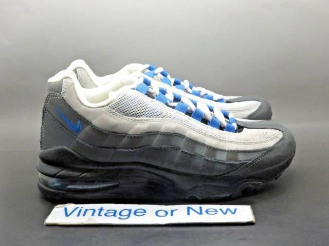Nike Air Max 95 Dark Grey Photo Blue Wolf Grey Running Gs 307565