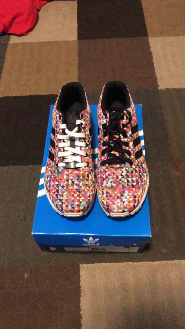 online tutaj Całkiem nowy dobra obsługa Adidas Zx Flux Multi Color Prism