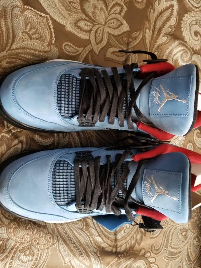 sports shoes b396f e10f2 Travis Scott X Air Jordan 4 Cactus Jack Houston Oilers