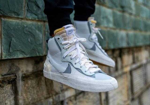 Sacai x Nike Blazer Mid White Wolf Grey