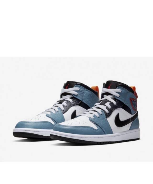 Air Jordan 1 Mid X Facetasm White Blue Black Mens Kixify