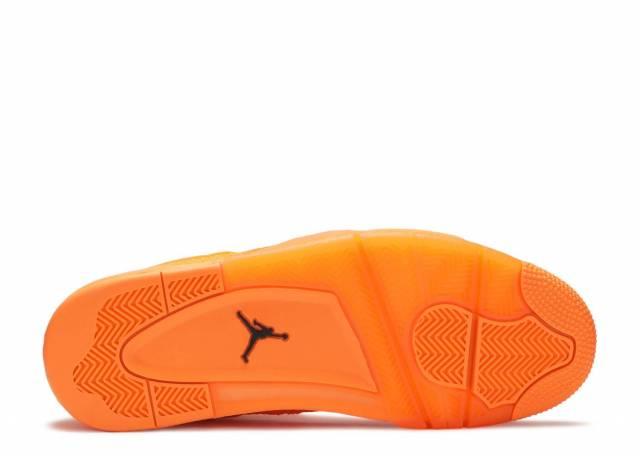 orange flyknit jordan 4