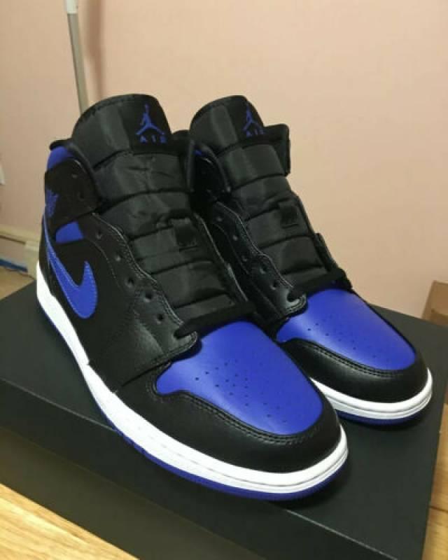 jordan 1 mid blue black