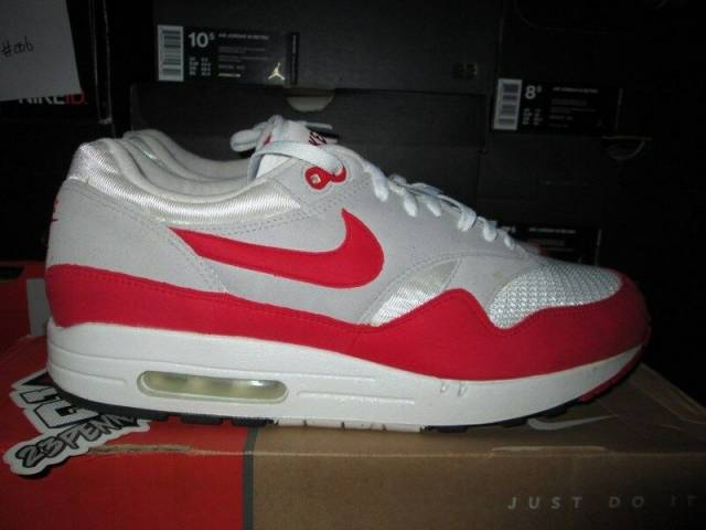 Nike Air Max 1 Classic Sport Red Neutral Grey Og ...