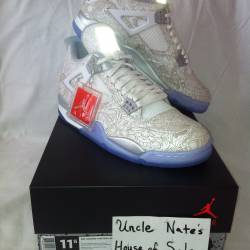 Jordan retro 4 laser, size 11....