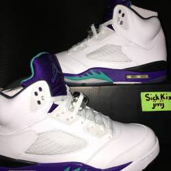 Nike air jordan 5 v white grap...