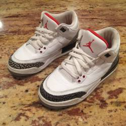 Air jordan retro 3 white/fire ...