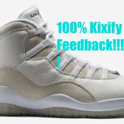 Air jordan 10 ovo white free s...