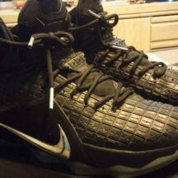 Lebron 12 ext black chrome rub...