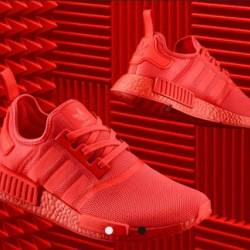 Adidas nmd r1 solar red size 9