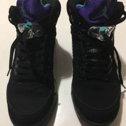 Jordan retro 5 black grape siz...