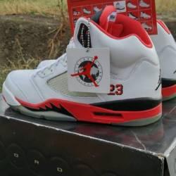 Air jordan 5 fire red black to...