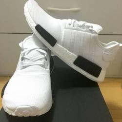 Adidas nmd r_1 white black ref...