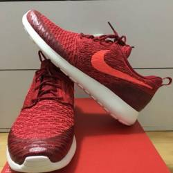 Nike roshe one flyknit red bri...