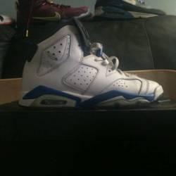 Air jordan 6 sport blue size 5y