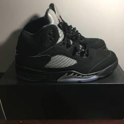 Nike air jordan 5 black/metall...