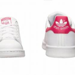 Adidas stan smith white and pi...