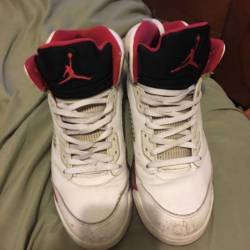 Fire red 5's ( black tounge)