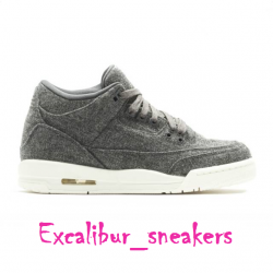 Air jordan 3 retro bg (gs) wool